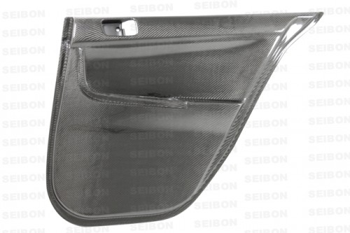 Carbon fibre rear door panels for 2008-2012 Mitsubishi Lancer EVO X