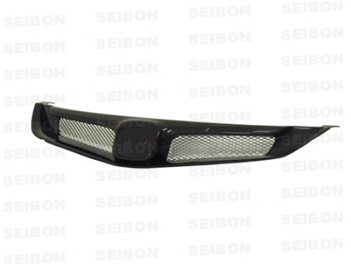 MG-style carbon fibre front grille for 2006-2010 Honda Civic 4DR JDM