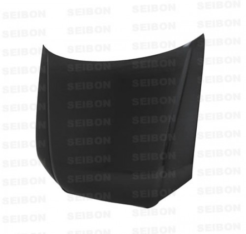 OEM-STYLE CARBON FIBRE BONNET FOR 2006-2007 AUDI A4 - Straight Weave