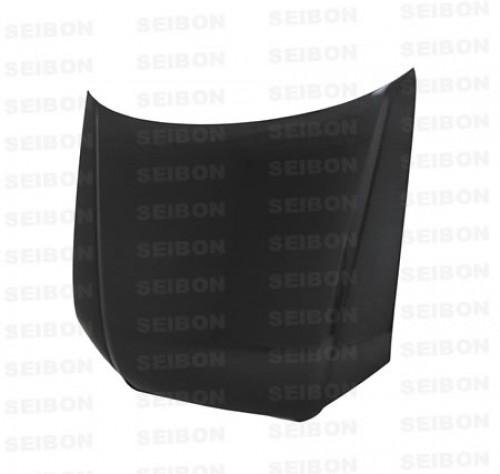 OEM-STYLE CARBON FIBRE BONNET FOR 2006-2007 AUDI A4 - Straight Weave