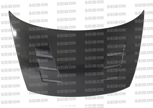 TS-style carbon fibre bonnet for 2006-2010 Honda Civic 2DR
