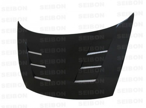 TS-style carbon fibre bonnet for 2006-2010 Honda Civic 4DR