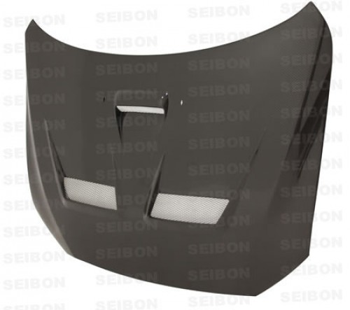 CW-style carbon fibre bonnet for 2008-2012 Mitsubishi Lancer EVO X