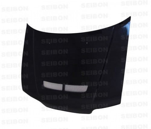 JDM-SIR-STYLE CARBON FIBRE BONNET WITH VENT FOR 1988-1991 HONDA CR-X - Straight Weave
