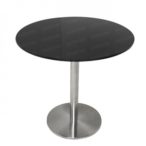 "Carbon fibre Circular Table 31.5"" x 30""H"
