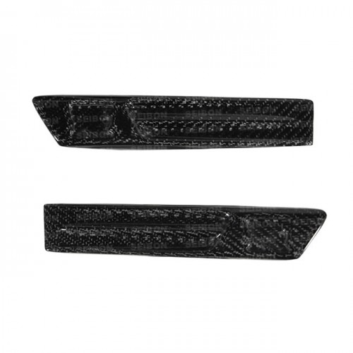 Carbon fibre wing duct logo for 2009-2010 Nissan GTR