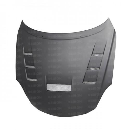 TV-style DRY CARBON fibre bonnet for 2001-2010 Lexus SC430 *ALL DRY CARBON PRODUCTS ARE MATTE FINISH!