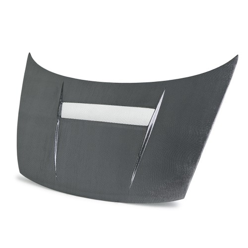 VSII-STYLE SILVER STRING CARBON BONNET FOR 2006-2010 HONDA CIVIC COUPE