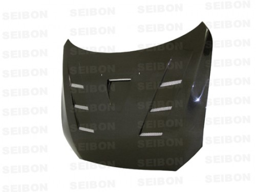 TS-style carbon fibre bonnet for 2008-2012 Mitsubishi Lancer EVO X