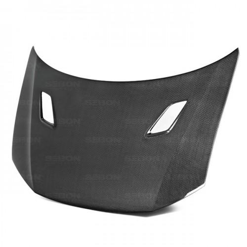 MG-style carbon fibre bonnet for 2012-2013 Honda Civic 2DR