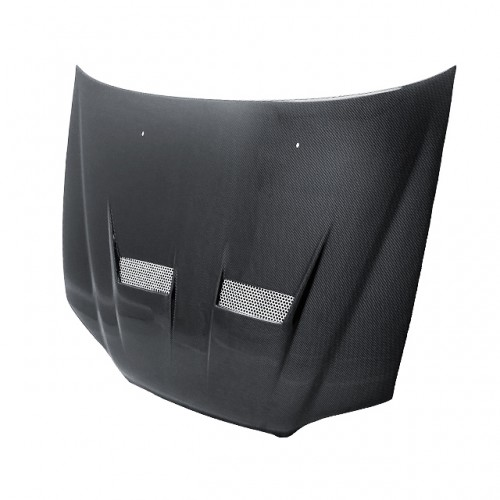 XT-Style Carbon fibre bonnet for 1998-2002 Honda Accord 4DR (Straight Weave)