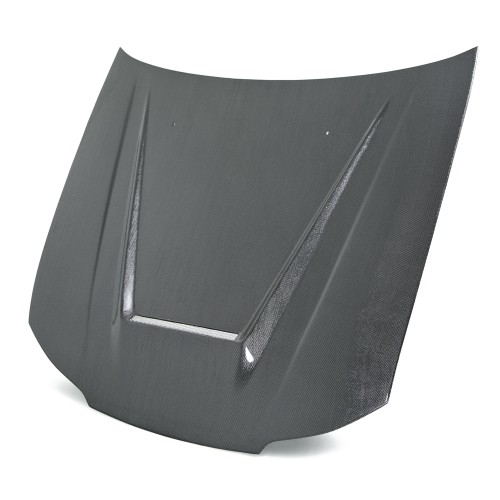 VSII-style silver string carbon bonnet for 1999-2001 Nissan S15