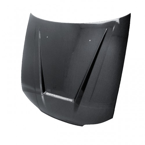 VSII-STYLE CARBON FIBRE BONNET FOR 1999-2002 NISSAN SILVIA S15 - Straight Weave