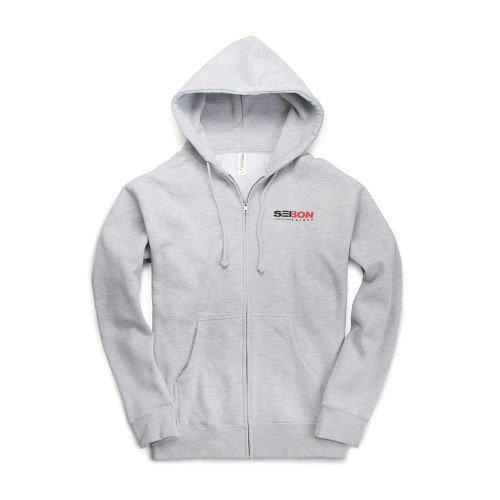 SEIBON CARBON ESTABLISH 03 FULL-ZIP HOODIE - Grey