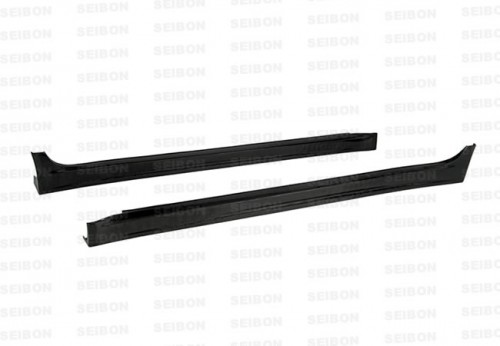 VR-style carbon fibre side skirts for 2008-2012 Mitsubishi Lancer EVO X