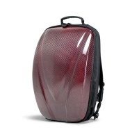 CARBON FIBRE HARD SHELL BACKPACK - Red