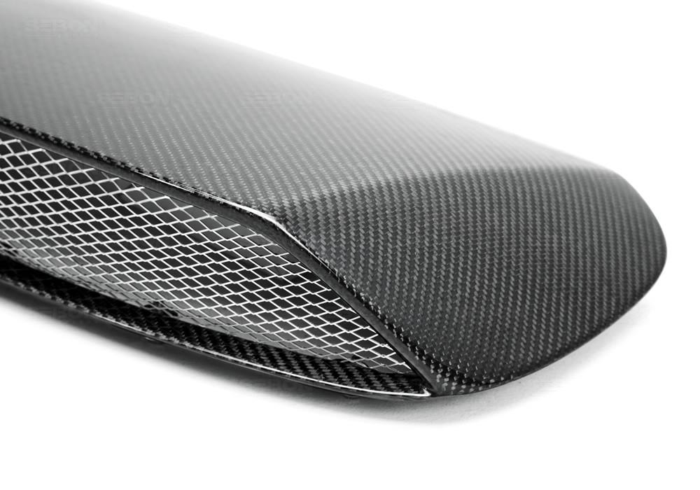 Sti Style Carbon Fibre Bonnet Scoop For 2008 2014 Subaru